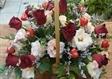 סידור פרחים במעלה אדומים