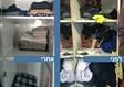 לפני ואחרי סידור ארונות בגדים
