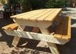 שולחן גינה כפרי