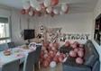 עיצוב חדר בלוני רוז גולד
