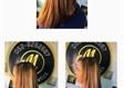 מאיה החלקות שיער במעלה אדומים